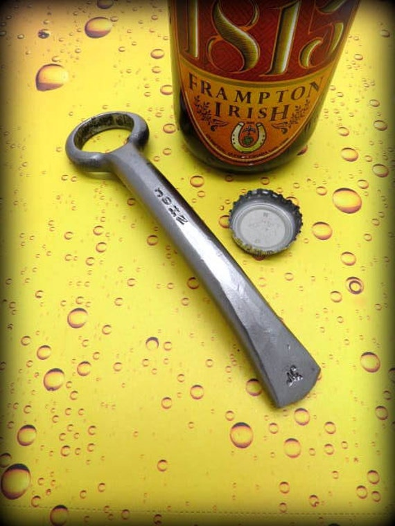 FORGED BOTTLE OPENER  Hand forged and Signed by Blacksmith Naz - Groomsmen Gift - Gifts for him - Man Gift - Men  Custom   Father  Best Man