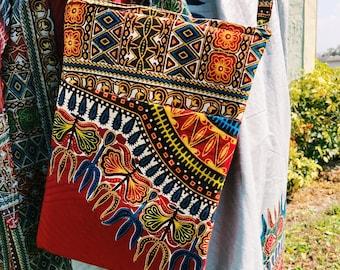 African Dashiki Print Purse