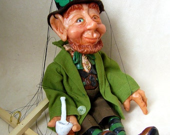 St Patrick's day sale!! Leprechaun Marionette (Made to Order)