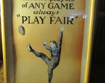 Framed 1937 Bob Hope Play Fair Poster