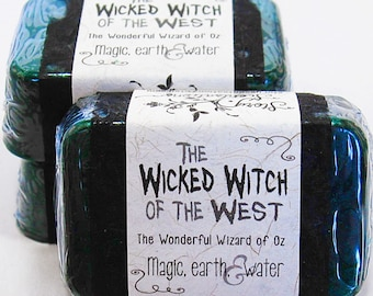 Wicked Witch of the West The Wonderful Wizard of Oz Glycerin Soap Bar - Handmade Custom Book Character Scent - Green, magic, forest, black