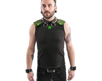 DSF Transfigurator Tank Top - Mens Shirt Black Mesh D ring