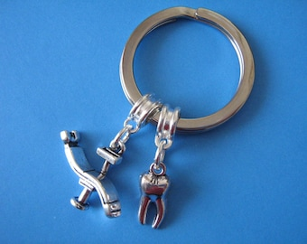 Dentist Keychain Dentist Chair Tooth Charm Dental Hygienist Keyring Graduation Gift