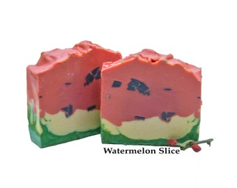 Watermelon Soap Cold Process Soap Organic Soap Handmade Bar Scented Soap Gift For Her Soap Watermelon Slice