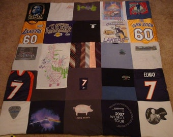 T Shirt Memory Blanket Unlimited Shirts, Items and Size (payments accpeted)