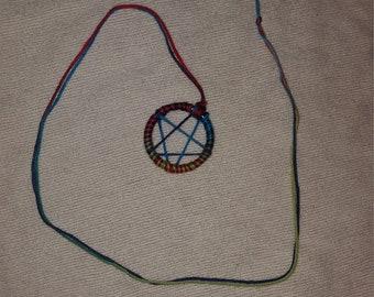 Blue multi color pentacle