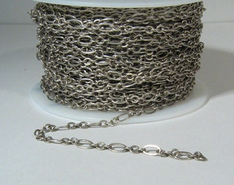 Fine Figaro Chain - Antique Silver - CH25 - Choose Your Length