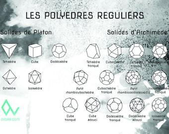 Poster size A2 Polyhedra