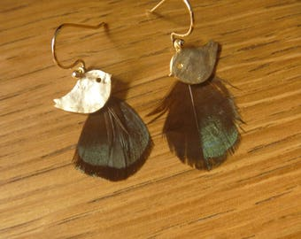 Bird and feather earrings: spring is here!