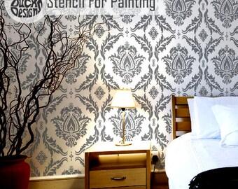 ANKARA STENCIL - Indian Damask Wall Furniture Craft Stencil for Painting - ANKA01