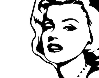 Marilyn Monroe picture, Signature and Sealed with a Kiss- Vinyl Decal