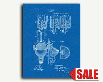 Patent Art - Urinal Patent Wall Art Print