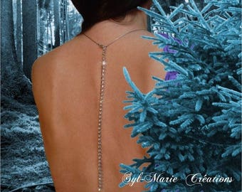 "Rhinestone White Gold 4mm - back jewel genuine swarowski eternity ""I love you forever"" sparkling elven"