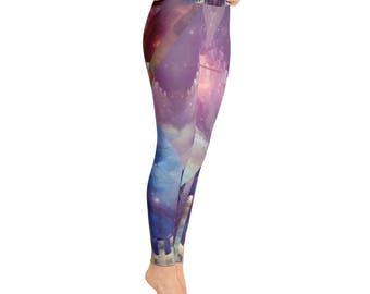 Stellar 1 + Yoga Leggings + by Phantom Rae Designs / Women's made in USA high quality workout pants / modern design