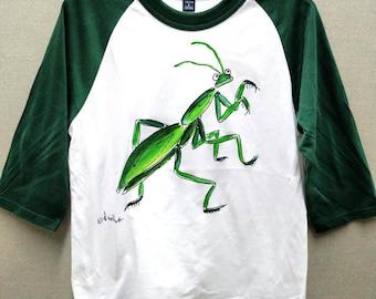 Praying Mantis Baseball Shirt for Kids