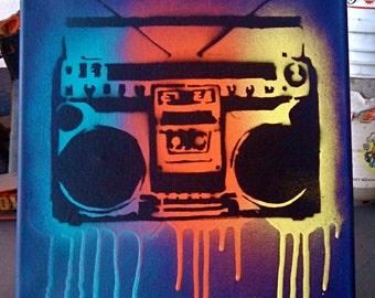 Boombox Stencil (Purple)