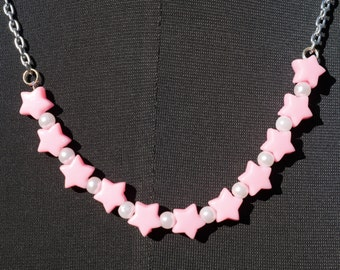 Stars and Pearl Necklace – So Kawaii ! Lolita Fairy Kei Decora