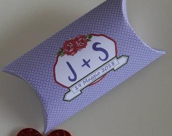 20 Wedding Favor Boxes/Jordan almonds boxes Door confetti Wedding anniversary customizable Engagement Violet