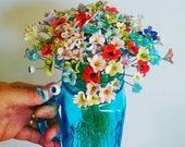 10 Teeny tiny ceramic baby flowers  pottery flowers mothers day