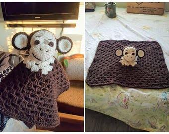 Monkey Lovey/Security Blanket/Toy Crochet Pattern