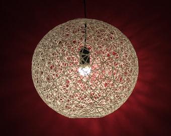 April, Modern Sphere Pendant Lamp made of thread