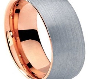 Wedding Band Tungsten Ring Rose Gold Ring For Men And Women