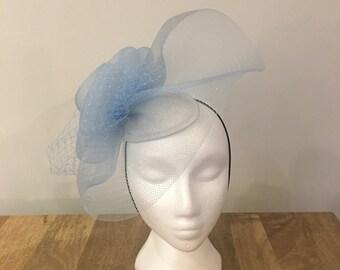 Cappello Persona Sky Blue Headpiece - Unique Fascinator