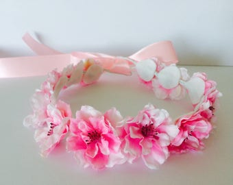 Pink Fairy Flower Crown | Pink Blossom Headband | Fairy Headband | Flower Crown | Flower halo | Floral Crown | Mommy and me set