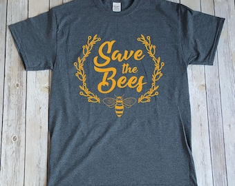 Save The Bees, Bee T-shirt Design, Save The Bees Awareness T-shirt