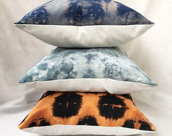 """2 Hand-Dyed Pillows // 19"""""""