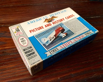 Vintage Airplane Picture and History Cards