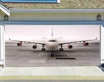 Airplane Garage Door Banners Decoration 3d Effect Outdoor Outside Billboard  Art Decor Double Garage Door Cover