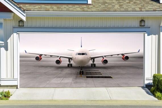 Airplane Garage Door Banners Decoration 3d Effect Outdoor