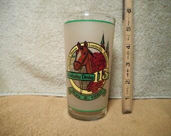 Official 1987 Kentucky Derby Glass, 113th Race