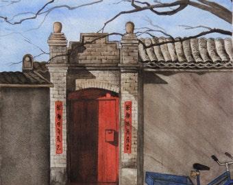 Beijing Alley Card/Print