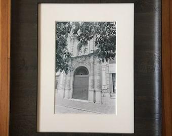"Framed Black & White Silver Gelatin Print ""Museo de Bellas Artes"" Spain"
