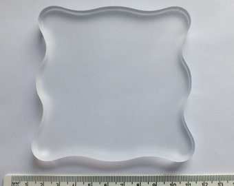 1 Large clear Acrylic block for Clear Stamps 4 x 4 inches