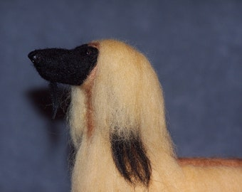 Afghan Hound needle felted dog example custom made to order