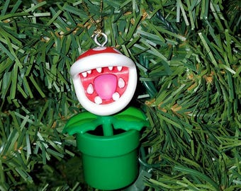Nintendo Super Mario Bros Christmas Ornament Piranha Plant