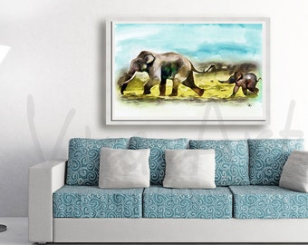 elephant painting watercolor painting watercolor elephant art elephant print nursery art elephant watercolor art animal art painting animals