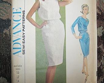 Advance Sew-Easy Dress Pattern #3462, Copyright 1964, Size 14