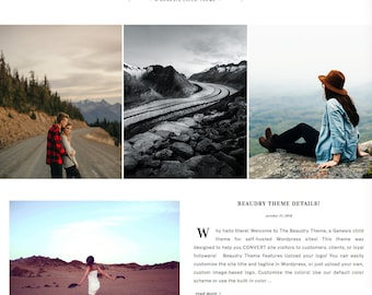 wordpress theme for photographers, artists, and business owners - beaudry - wordpress template with custom colors, shop, and portfolio