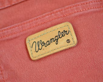 Vintage Wrangler Jeans Regular Straight Leg Zip Fly Orange W 27 L 32 UK 8