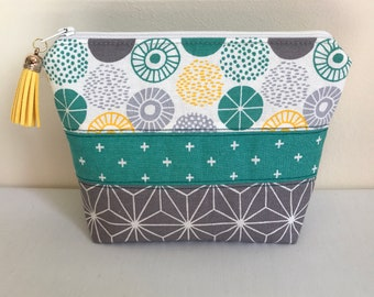 Cosmetic Bag, Makeup Bag, Zipper Pouch, Patterned Cosmetic Bag
