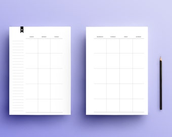 Undated Monthly/Daily Planner Bundle (Digital Download/ Half Letter)