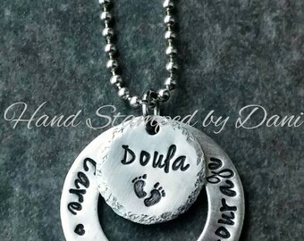 Doula nurse necklace or keychain