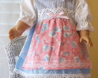 Handmade Doll Clothes Soft Colors  Dress Fits 18 inch dolls