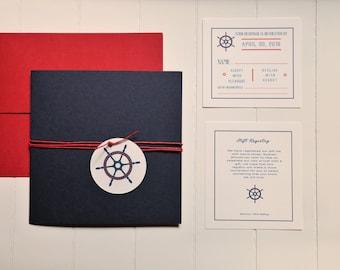 Nautical themed custom invitation