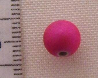 set of 10 round beads satin Pink 8mm