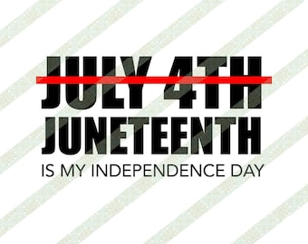 Juneteenth Is My Independence Day Not July 4th SVG